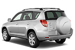 Rear three quarter view of 2008 Toyota Rav4 Limited SUV Stock Photo