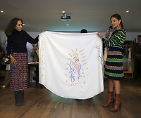BOGOTÁ - COLOMBIA, 29-08-2017: Presentación de las vestiduras litúrgicas que serán obsequiadas al Papa Francisco para las cuatro eucarísticas que presidirá en Colombia. El obispo castrense y Director Ejecutivo de la Visita Apostólica, Monseñor Fabio Suescun Mutis, afirmó que estos ornamentos son muy importantes ya que hacen parte de la celebración del misterio de la Pascua que se hace a través de cada Misa. El Papa Francisco realiza la visita apostólica a Colombia entre el 6 y el 11 de septiembre de 2017 llevando su mensaje de paz y reconciliación por 4 ciudades: Bogotá, Villavicencio, Medellín y Cartagena. / Launch of the liturgical vestments that will be presented to Pope Francis for the four Eucharistic celebrations in Colombia. The military bishop and Executive Director of the Apostolic Visit, Monsignor Fabio Suescún Mutis, said that these ornaments are very important as they are part of the celebration Of the mystery of the Passover that is made through each Mass. Pope Francisco made the apostolic visit to Colombia between September 6 and 11, 2017, bringing his message of peace and reconciliation to 4 cities: Bogota, Villavicencio, Medellin and Cartagena Photo: VizzorImage / Jose Miguel Gómez / Prensa Episcopado Colombiano