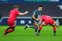 SWANSEA, WALES - JANUARY 11:Tiaan Thomas-Wheeler of Ospreys in action during the Heineken Champions Cup Round 5 match between the Ospreys and Saracens at the Liberty Stadium in Swansea, Wales, UK. Saturday January 11 2020.