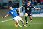 Dundee v St Johnstone…29.12.18…   Dens Park    SPFL<br />Matty Kennedy is sent flying by Calvin Miller<br />Picture by Graeme Hart. <br />Copyright Perthshire Picture Agency<br />Tel: 01738 623350  Mobile: 07990 594431