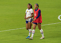 ORLANDO, FL - JANUARY 22: Margaret Purce #23 and Lynn Williams #6 during a game between Colombia and USWNT at Exploria stadium on January 22, 2021 in Orlando, Florida.