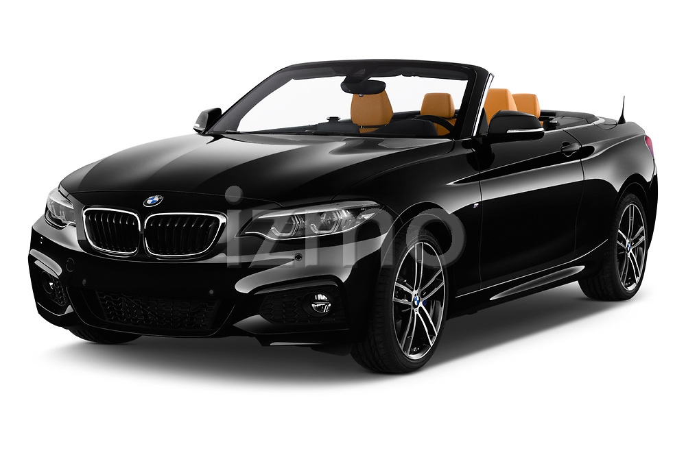 2018 BMW 2 Series M Sport 2 Door Convertible angular front stock photos of front three quarter view