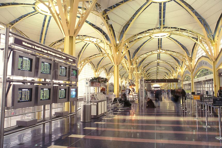 airport terminal, Washington, D.C./Arlington, VA, Virginia, Ronald Reagan Washington National Airport in Arlington/Washington area.