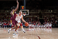 STANFORD, CA - January 8, 2011: Kayla Pedersen of the Stanford Cardinal women's basketball team during Stanford's game against Arizona State at Maples Pavilion. Stanford won 82-35.