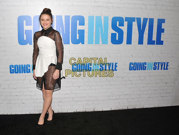 NEW YORK, NY - March 30: Joey King attends the 'Going In Style' New York Premiere at SVA Theatre on March 30, 2017 in New York City. <br /> CAP/MPI/JP<br /> ©JP/MPI/Capital Pictures