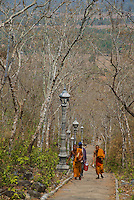 Over 450 steps to Phnom Chisor, Ankgorian temple south of Phnom Penh, Cambodia