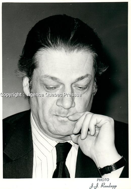 Michel Belanger, 21 Janvier 1980 <br /> <br /> PHOTO :  Agence Quebec Presse