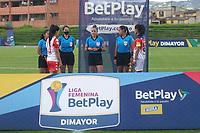 CHIA - COLOMBIA, 12 -08-2021: Xxx durante partido entre Fortaleza CEIF e Independiente Santa Fe por la fecha 7 como parte de la Liga Femenina BetPlay DIMAYOR 2021 jugado en el estadio Municipal de la ciudad de Chía. / xxx during a match between Fortaleza CEIF and Independiente Santa Fe for the date 7 as part of Women's BetPlay DIMAYOR 2021 League played at Municipal stadium of Chia city. Photo: VizzorImage / Daniel Garzon / Cont