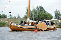 SKUTSJESILEN: GROU: SKS skûtsjesilen, Friese Sporten, 30-07-2011, Fryslân, Statenjacht 'Friso', Provinsje Fryslân, ©foto Martin de Jong..