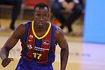 League ACB-ENDESA 2020/2021.Game 15.<br /> FC Barcelona vs Club Joventut Badalona: 88-74.<br /> Ibou Badji.
