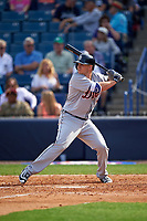 Detroit Tigers left fielder Jason Krizan (73) at bat during a Spring Training game against the New York Yankees on March 2, 2016 at George M. Steinbrenner Field in Tampa, Florida.  New York defeated Detroit 10-9.  (Mike Janes/Four Seam Images)