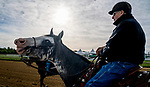 May 12, 2021: Trainer D. Wayne Lukas watches his horse Ram exercise as Preakness Stakes hopefuls train at Pimlico Race Course in Baltimore, Maryland. Scott Serio//Eclipse Sportswire/CSM