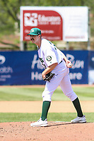 Beloit Snappers pitcher Bryce Conley (33) on the mound during a Midwest League game against the Cedar Rapids Kernels on June 2, 2019 at Pohlman Field in Beloit, Wisconsin. Beloit defeated Cedar Rapids 6-1. (Brad Krause/Four Seam Images)