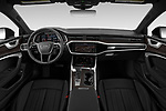Stock photo of straight dashboard view of 2020 Audi A7 Premium-Plus 5 Door Hatchback Dashboard