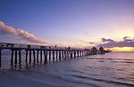 Naples Pier at Sunset, Naples, Florida, USA