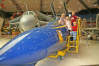 Children touring National Museum of Naval Aviation Pensacola Florida