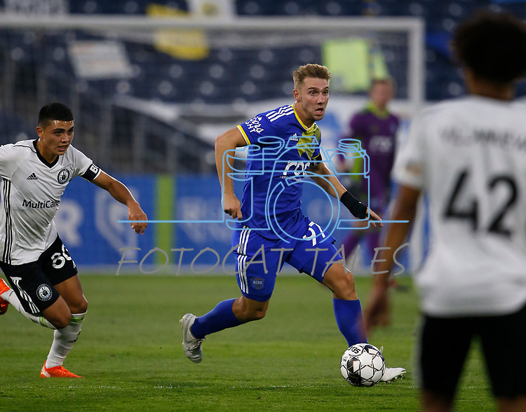 Reno 1868 FC defeats Tacoma Defiance FC 3-2 in Reno, Nev., on Sept. 17, 2020. <br /> Photo by Cathleen Allison