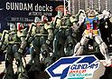 Gundam docks at Tokyo Japan exhibition launched