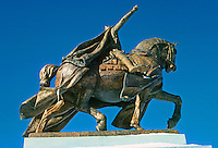 """St. Louis: Equestrian statue, """" Apotheosis of St. Louis"""" designed by Charles H. Niehaus. Located in front of Art Museum, Forest Park, 1906. Photo '77."""
