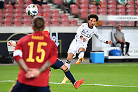 3rd September 2020; Stuttgart, Germany; UEFA Nations League football, Germany versus Spain; The shot comes in from Leroy SANE GER