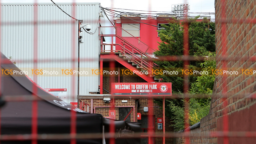 Possibly the last match to be played at Griffin Park and the gates are closed with no fans allowed into the Stadium due to the Covid-19 pandemic during Brentford vs Barnsley, Sky Bet EFL Championship Football at Griffin Park on 22nd July 2020