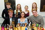 Katie Ann Harris from Tralee celebrating her 20th birthday in Sforno on Friday. Seated l to r: Cathal McLoughlin, Katie Ann Harris and Barry Sugrue. Back l to r: Colm Atkinson, Sarah Cleary, Roisin Moriarty and Rachel Costello.