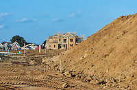 New housing construction, New Jersey, USA.
