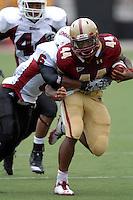 Boston College Eagles running back Andre Williams (#44) during a game versus the University of Massachusetts Minutemen on September 24, 2011 at Alumni Stadium in Chestnut Hill, Massachusetts. ( Ken Babbitt/Four Seam Images)