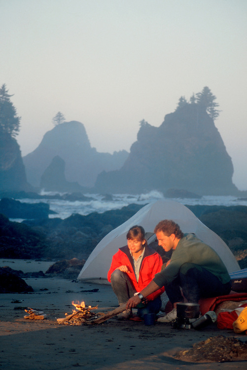 Beach Camping, Olympic National Park, Shi Shi Beach, Point of Arches, Olympic Peninsula, Washington Coast, Washington State, Pacific Northwest, Pacific Ocean, North America