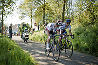 With 3 km to go Michał Kwiatkowski (POL/SKY) & Matteo TRENTIN (ITA/Mitchelton-Scott) try to cross to the race leaders who are 20 seconds ahead<br /> <br /> 54th Amstel Gold Race 2019 (1.UWT)<br /> One day race from Maastricht to Berg en Terblijt (NED/266km)<br /> <br /> ©kramon