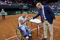 September 13, 2014, Netherlands, Amsterdam, Ziggo Dome, Davis Cup Netherlands-Croatia, Nat. junior champs being honoured<br /> <br /> Photo: Tennisimages/Henk Koster