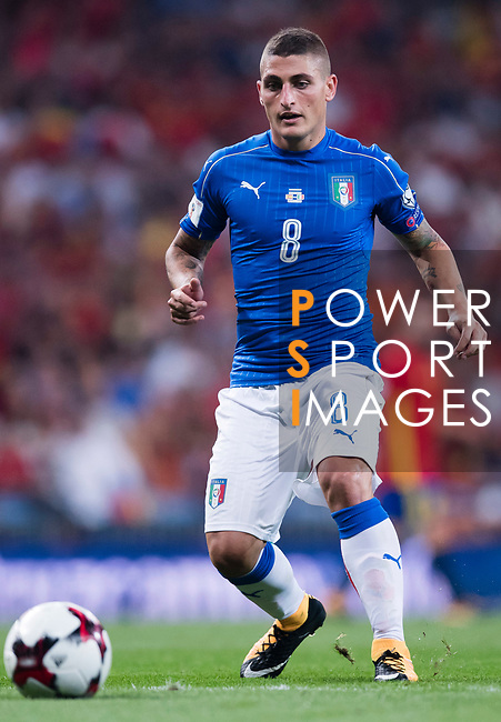 Marco Verratti of Italy in action during their 2018 FIFA World Cup Russia Final Qualification Round 1 Group G match between Spain and Italy on 02 September 2017, at Santiago Bernabeu Stadium, in Madrid, Spain. Photo by Diego Gonzalez / Power Sport Images