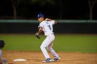 AZL Dodgers second baseman Marcus Chiu (14) on defense against the AZL Indians on July 20, 2017 at Camelback Ranch in Glendale, Arizona. AZL Dodgers defeated the AZL Indians 10-9. (Zachary Lucy/Four Seam Images)