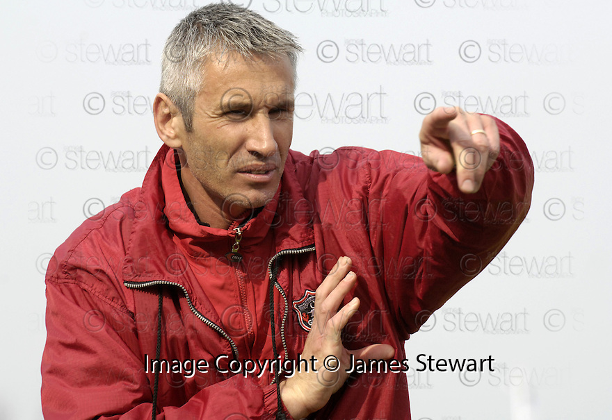 21/04/2007       Copyright Pic: James Stewart.File Name : sct_jspa26_gretna_v_clyde.DAVID IRONS SHOUTS HIS INSTRUCTIONS.....James Stewart Photo Agency 19 Carronlea Drive, Falkirk. FK2 8DN      Vat Reg No. 607 6932 25.Office     : +44 (0)1324 570906     .Mobile   : +44 (0)7721 416997.Fax         : +44 (0)1324 570906.E-mail  :  jim@jspa.co.uk.If you require further information then contact Jim Stewart on any of the numbers above.........