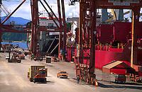 A Canadian bulk cargo shipping terminal. Vancouver, Canada.