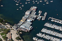 aerial photograph pier and marina Monterey, California