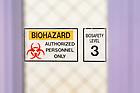 September 14, 2021; Biosafety level 3 lab (Photo by Matt Cashore/University of Notre Dame)
