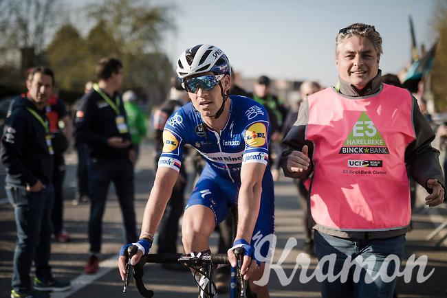 Zdenek Stybar (CZE/Deceuninck-Quick Step) wins the 62nd E3 BinckBank Classic (Harelbeke) 2019 <br /> <br /> One day race (1.UWT) from Harelbeke to Harelbeke (204km)<br /> <br /> ©kramon