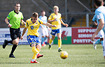 Forfar v St Johnstone….27.07.19      Station Park     Betfred Cup       <br />Kyle McClean's shot is blocked<br />Picture by Graeme Hart. <br />Copyright Perthshire Picture Agency<br />Tel: 01738 623350  Mobile: 07990 594431