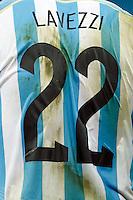 The shirt of Ezequiel Lavezzi of Argentina