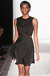 Model walks runway in an outfit from the Claire Henkel Fall Winter 2015 collection, during the Emerging Designers Fall Winter 2015 fashion show for  Fashion Gallery New York Fashion Week Fall 2015.