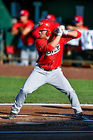 Matt Thaiss (37) of the Orem Owlz at bat against the Ogden Raptors in Pioneer League action at Lindquist Field on June 27, 2016 in Ogden, Utah. Orem defeated Ogden 4-3. (Stephen Smith/Four Seam Images)
