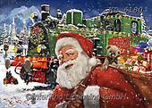 Interlitho-Franco, CHRISTMAS SANTA, SNOWMAN, WEIHNACHTSMÄNNER, SCHNEEMÄNNER, PAPÁ NOEL, MUÑECOS DE NIEVE, paintings+++++,santa train,KL6180,#x# ,puzzle,puzzles