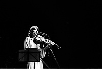 Catherine Lara en spectacle  au Quebec, date inconnue, vers 1976<br /> <br /> PHOTO :  Agence Quebec Presse