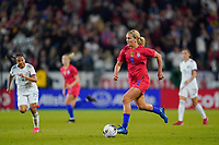 CARSON, CA - FEBRUARY 7: Lindsey Horan #9 of the United States during a game between Mexico and USWNT at Dignity Health Sports Park on February 7, 2020 in Carson, California.