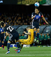 October 11, 2016: MAKOTO HASEBE (17) of Japan heads the ball during a 3rd round Group B World Cup 2018 qualification match between Australia and Japan at the Docklands Stadium in Melbourne, Australia. Photo Sydney Low Please visit zumapress.com for editorial licensing. *This image is NOT FOR SALE via this web site.