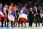 during FIBA Basketball World Cup Spain 2014 final match award ceremony at `Palacio de los deportes´ stadium in Madrid, Spain. September 14, 2014. (ALTERPHOTOSVictor Blanco)