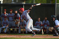 Ball State Cardinals outfielder Alex Call (8) during a game against the Dartmouth Big Green on March 7, 2015 at North Charlotte Regional Park in Port Charlotte, Florida.  Ball State defeated Dartmouth 7-4.  (Mike Janes/Four Seam Images)