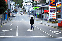 Vivian St at 9am during Level 4 lockdown for the COVID-19 pandemic in Wellington, New Zealand on Monday, 23 August 2021.