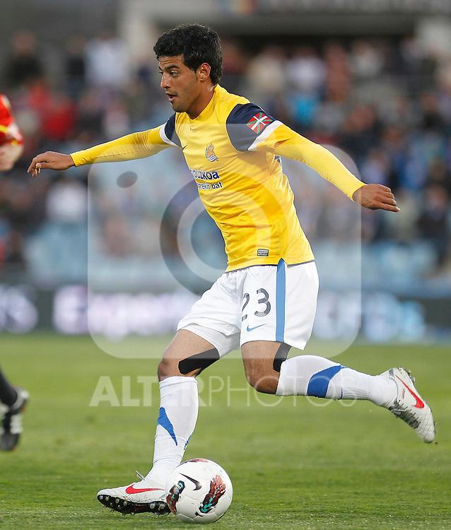 Real Sociedad's Carlos Vela during La Liga match.March 17,2012. (ALTERPHOTOS/Acero)
